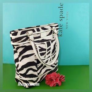 Kate Spade Canvas Leather Shoulder Bag Zebra NWOT